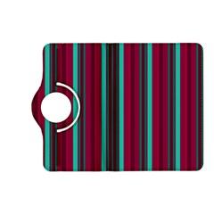 Red Blue Line Vertical Kindle Fire Hd (2013) Flip 360 Case
