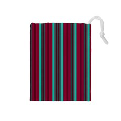 Red Blue Line Vertical Drawstring Pouches (medium)