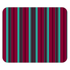 Red Blue Line Vertical Double Sided Flano Blanket (small)