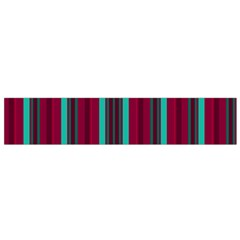 Red Blue Line Vertical Flano Scarf (small)