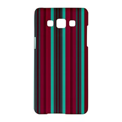 Red Blue Line Vertical Samsung Galaxy A5 Hardshell Case
