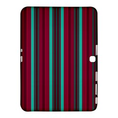 Red Blue Line Vertical Samsung Galaxy Tab 4 (10 1 ) Hardshell Case