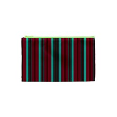 Red Blue Line Vertical Cosmetic Bag (xs)
