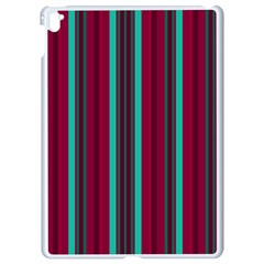 Red Blue Line Vertical Apple Ipad Pro 9 7   White Seamless Case
