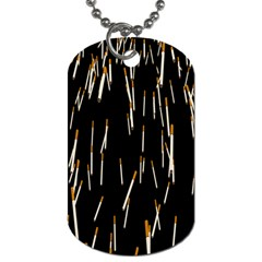 Rain Cigarettes Transparent Background Motion Angle Dog Tag (two Sides)