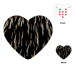 Rain Cigarettes Transparent Background Motion Angle Playing Cards (heart)
