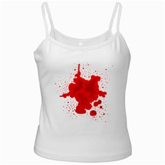 Red Blood Transparent White Spaghetti Tank
