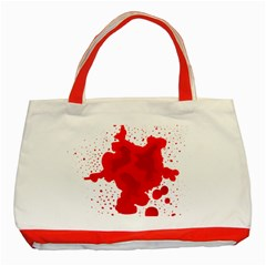 Red Blood Transparent Classic Tote Bag (red)