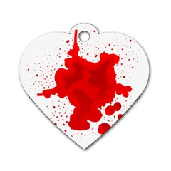 Red Blood Transparent Dog Tag Heart (two Sides)