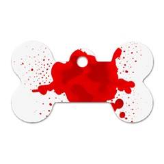 Red Blood Transparent Dog Tag Bone (two Sides)