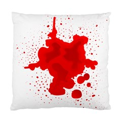 Red Blood Transparent Standard Cushion Case (two Sides)