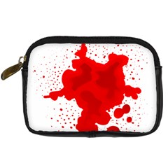 Red Blood Transparent Digital Camera Cases
