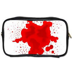 Red Blood Transparent Toiletries Bags 2 Side