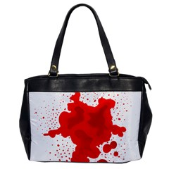 Red Blood Transparent Office Handbags
