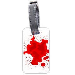 Red Blood Transparent Luggage Tags (two Sides)