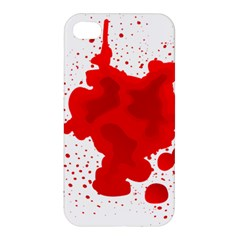 Red Blood Transparent Apple Iphone 4/4s Hardshell Case