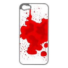 Red Blood Transparent Apple Iphone 5 Case (silver)