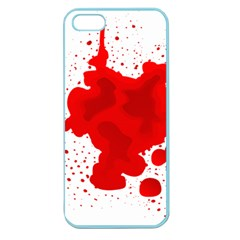 Red Blood Transparent Apple Seamless Iphone 5 Case (color)