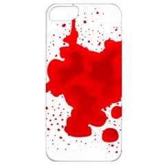 Red Blood Transparent Apple Iphone 5 Classic Hardshell Case