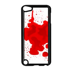 Red Blood Transparent Apple Ipod Touch 5 Case (black)