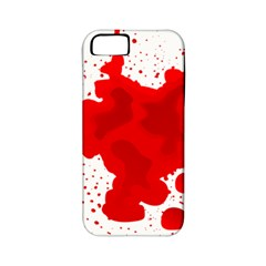 Red Blood Transparent Apple Iphone 5 Classic Hardshell Case (pc+silicone)