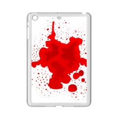 Red Blood Transparent Ipad Mini 2 Enamel Coated Cases