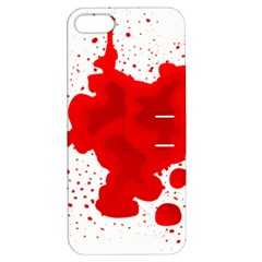 Red Blood Transparent Apple Iphone 5 Hardshell Case With Stand