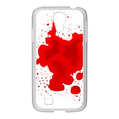 Red Blood Transparent Samsung Galaxy S4 I9500/ I9505 Case (white)