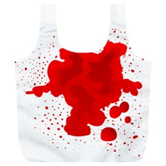 Red Blood Transparent Full Print Recycle Bags (l)