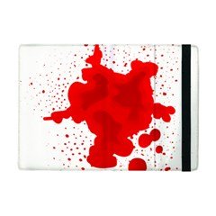 Red Blood Transparent Ipad Mini 2 Flip Cases