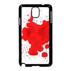 Red Blood Transparent Samsung Galaxy Note 3 Neo Hardshell Case (black)