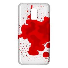 Red Blood Transparent Galaxy S5 Mini