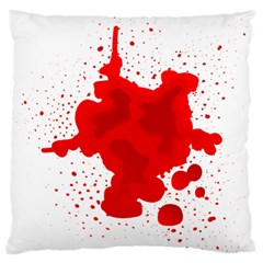 Red Blood Transparent Standard Flano Cushion Case (one Side)