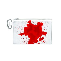Red Blood Transparent Canvas Cosmetic Bag (s)