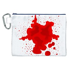 Red Blood Transparent Canvas Cosmetic Bag (xxl)