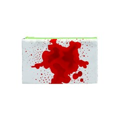 Red Blood Transparent Cosmetic Bag (xs)