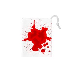 Red Blood Transparent Drawstring Pouches (xs)