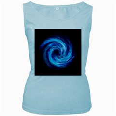 Hole Space Galaxy Star Planet Women s Baby Blue Tank Top
