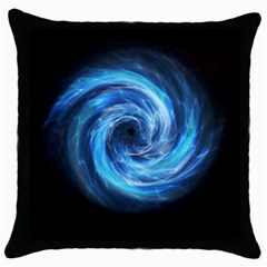 Hole Space Galaxy Star Planet Throw Pillow Case (black)