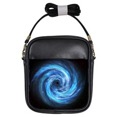 Hole Space Galaxy Star Planet Girls Sling Bags