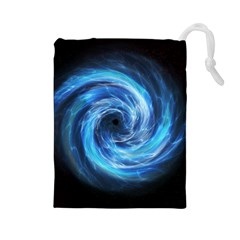 Hole Space Galaxy Star Planet Drawstring Pouches (large)