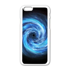 Hole Space Galaxy Star Planet Apple Iphone 6/6s White Enamel Case