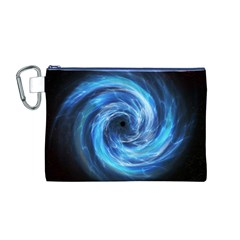 Hole Space Galaxy Star Planet Canvas Cosmetic Bag (m)