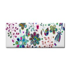 Prismatic Psychedelic Floral Heart Background Cosmetic Storage Cases