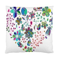 Prismatic Psychedelic Floral Heart Background Standard Cushion Case (one Side)