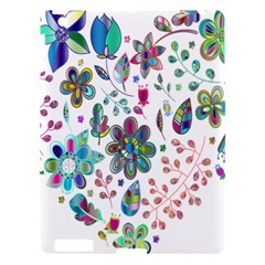 Prismatic Psychedelic Floral Heart Background Apple Ipad 3/4 Hardshell Case