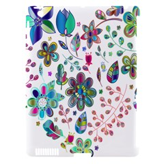 Prismatic Psychedelic Floral Heart Background Apple Ipad 3/4 Hardshell Case (compatible With Smart Cover)