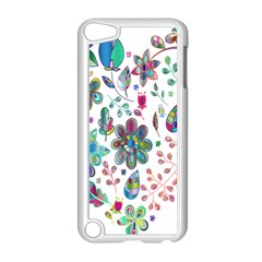 Prismatic Psychedelic Floral Heart Background Apple Ipod Touch 5 Case (white)