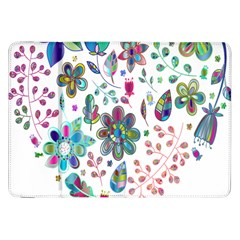 Prismatic Psychedelic Floral Heart Background Samsung Galaxy Tab 8 9  P7300 Flip Case