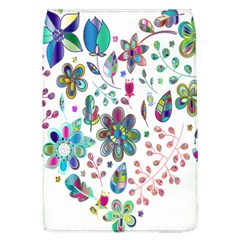 Prismatic Psychedelic Floral Heart Background Flap Covers (l)